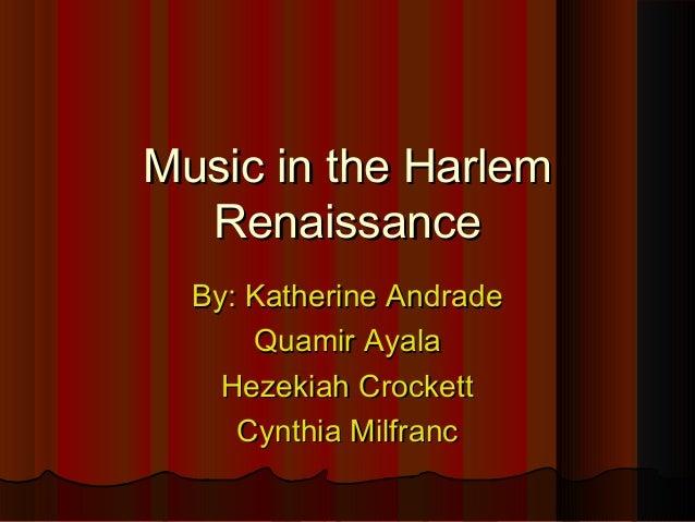 Harlem renaissance summary essay rubric