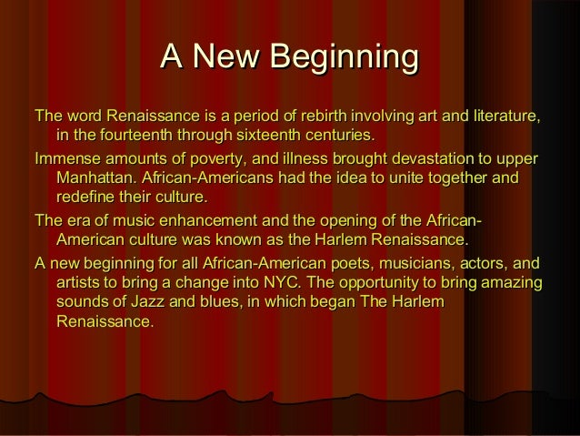 harlem renaissance essay thesis View and download harlem renaissance essays examples also discover topics, titles, outlines, thesis statements, and conclusions for your harlem renaissance essay.