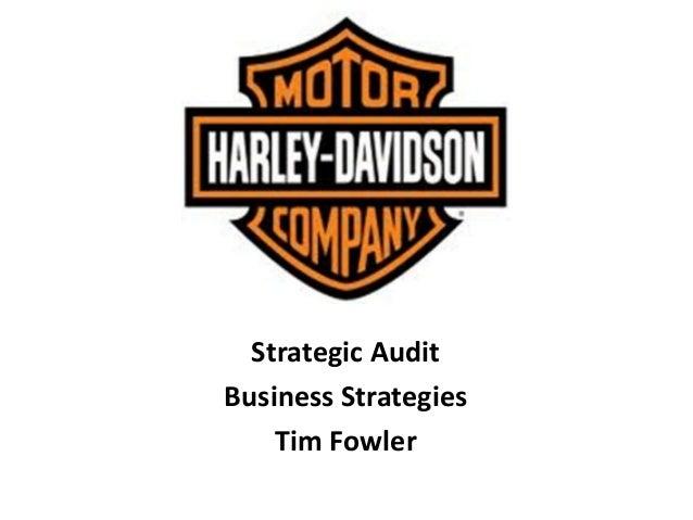 Harley davidson Co. Strategic Audit
