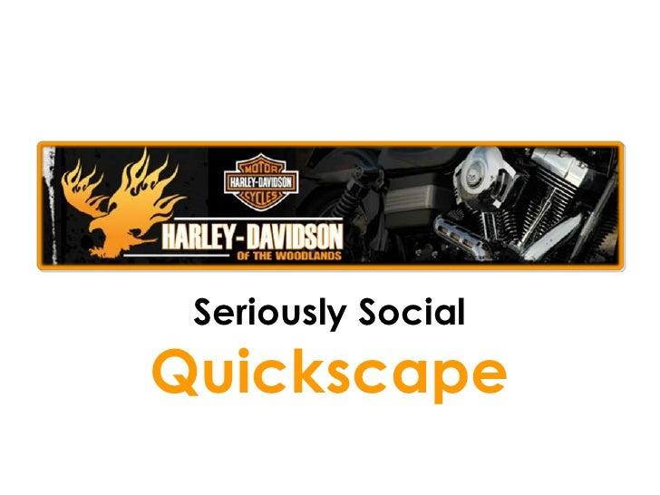 Harley davidson Social Media QuickScape