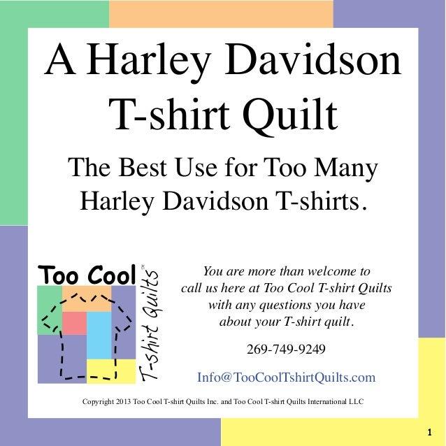 Harley Davidson T-shirt Quilt Slideshow