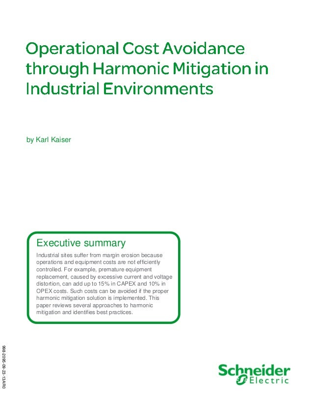 Operational Cost Avoidance through Harmonic Mitigation in Industrial Environments