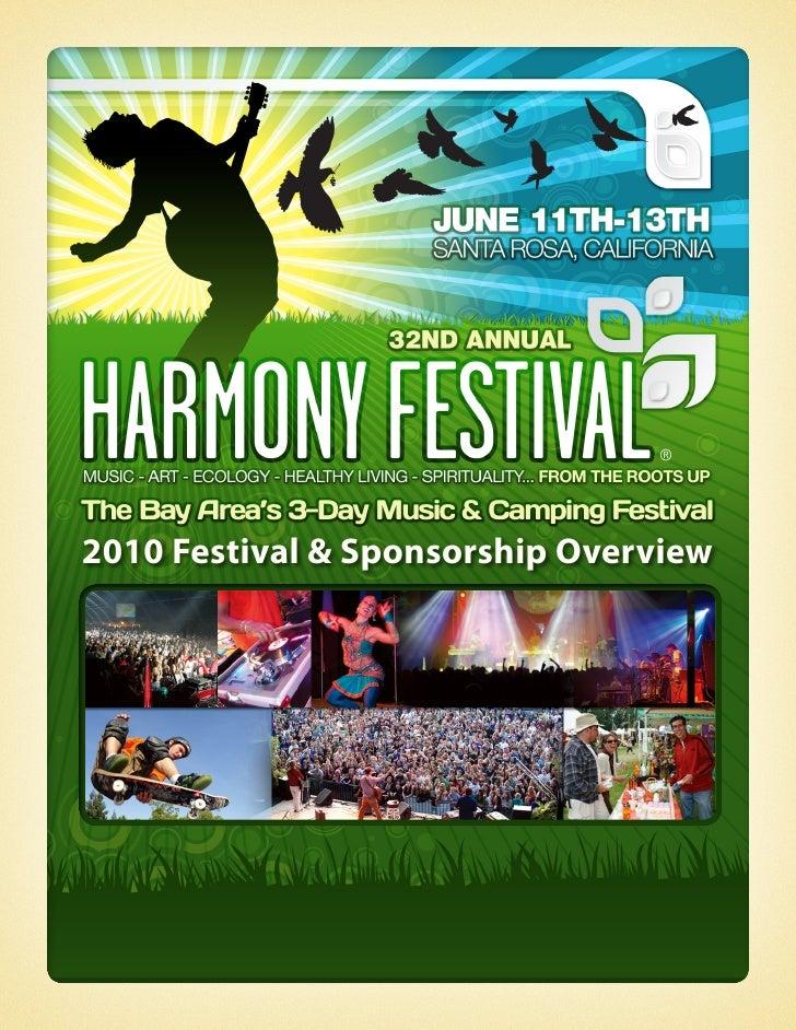 Harmony Festival 2010   Sponsor Kit