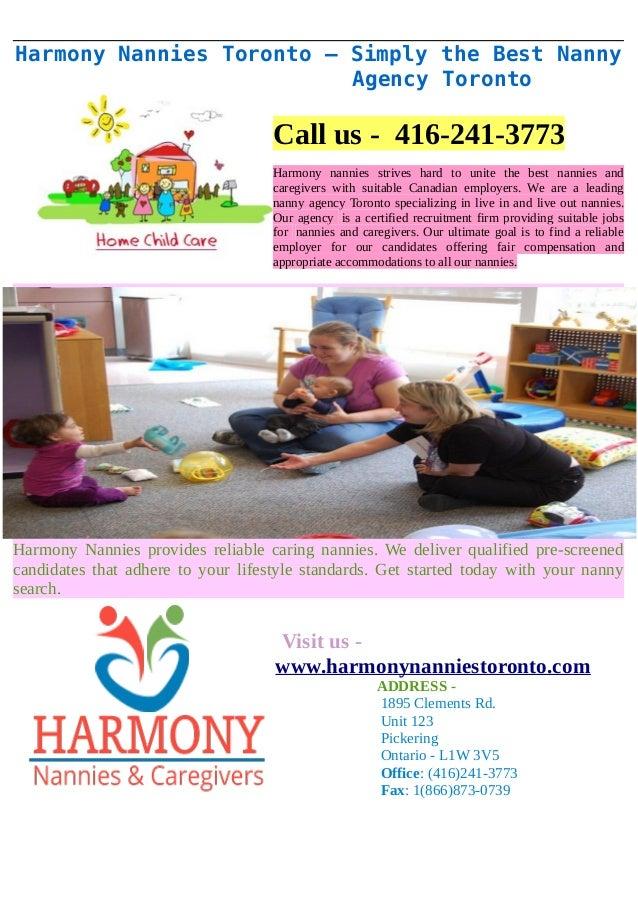 Harmony nannies toronto simply the best nanny agency toronto for The nanny house layout