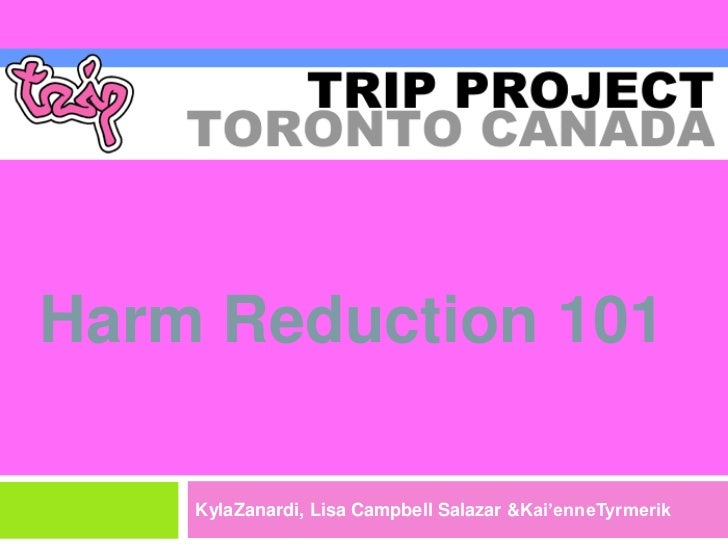 Harm Reduction 101 - TRIP! Project
