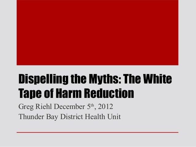 Harm reduction  Thunder Bay Ontario