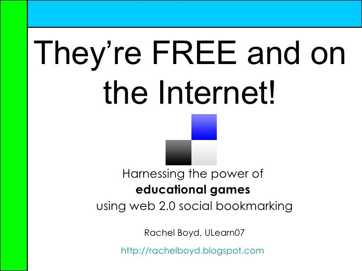 Harnessing the power of educational games using web2.0 social bookmarking