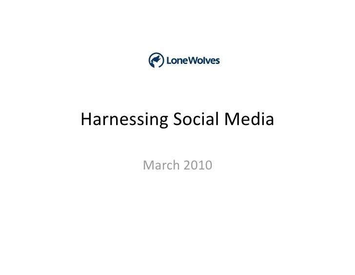 HarnessingSocialMedia         March2010