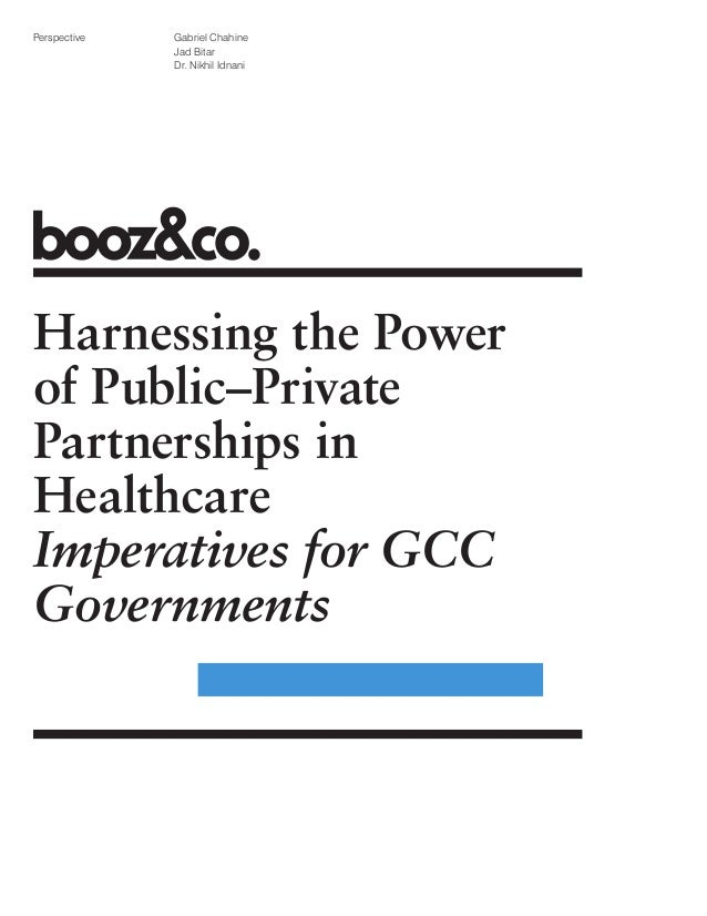 Harnessing the power of public private partnerships in Healthcare
