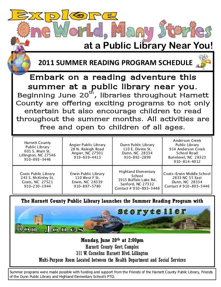 Harnett County Library Summer Programs
