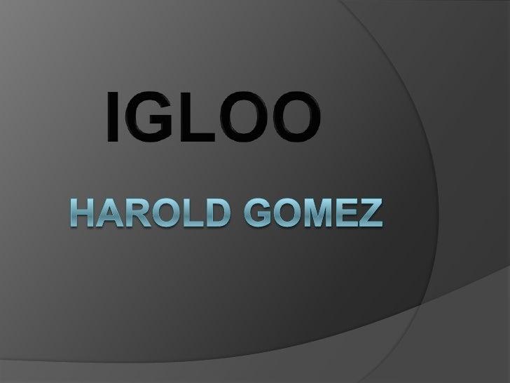 Harold Gomez<br />IGLOO<br />