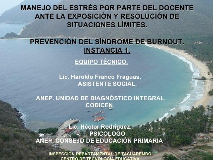 "Centro de Tecnología Educativa de Tacuarembó ""SÍNDROME DE BURNOUT"""