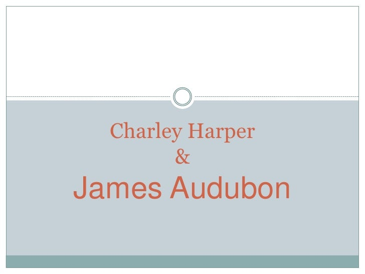 Charley Harper        &James Audubon