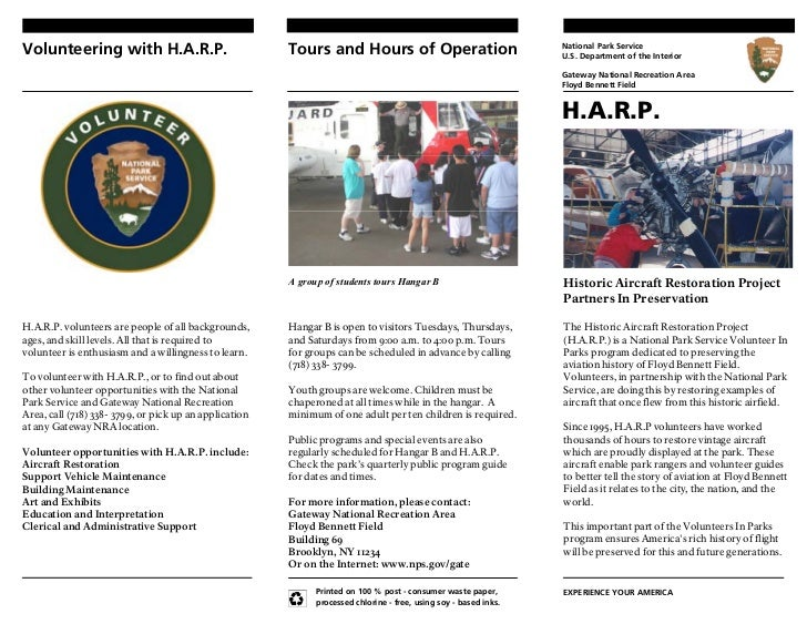 Volunteering with H.A.R.P.                              Tours and Hours of Operation                               Nationa...