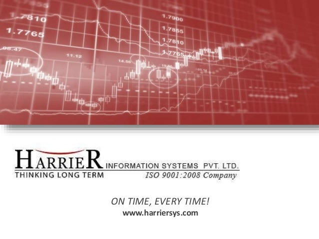 ON TIME, EVERY TIME! www.harriersys.com 30 January 2015 Harrier 1