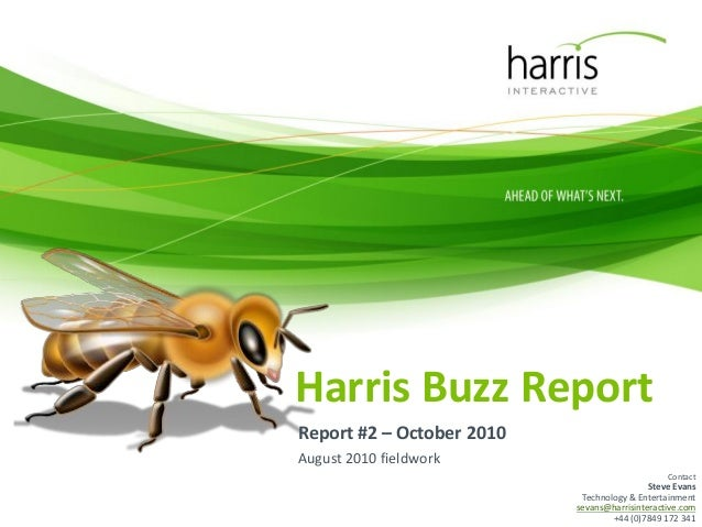 Harris Buzz #2: Entertainment research, technology research