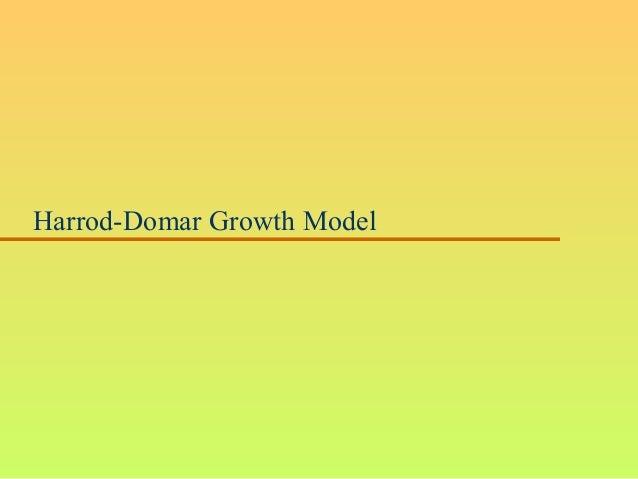 Harrod-Domar Growth Model