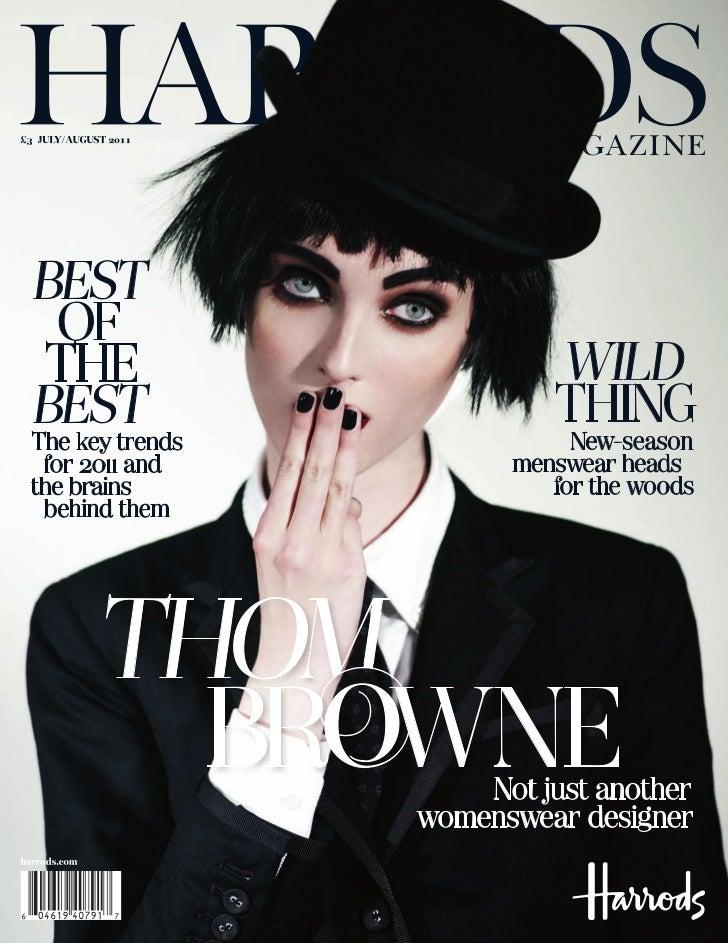 Harrods: July August Magazine