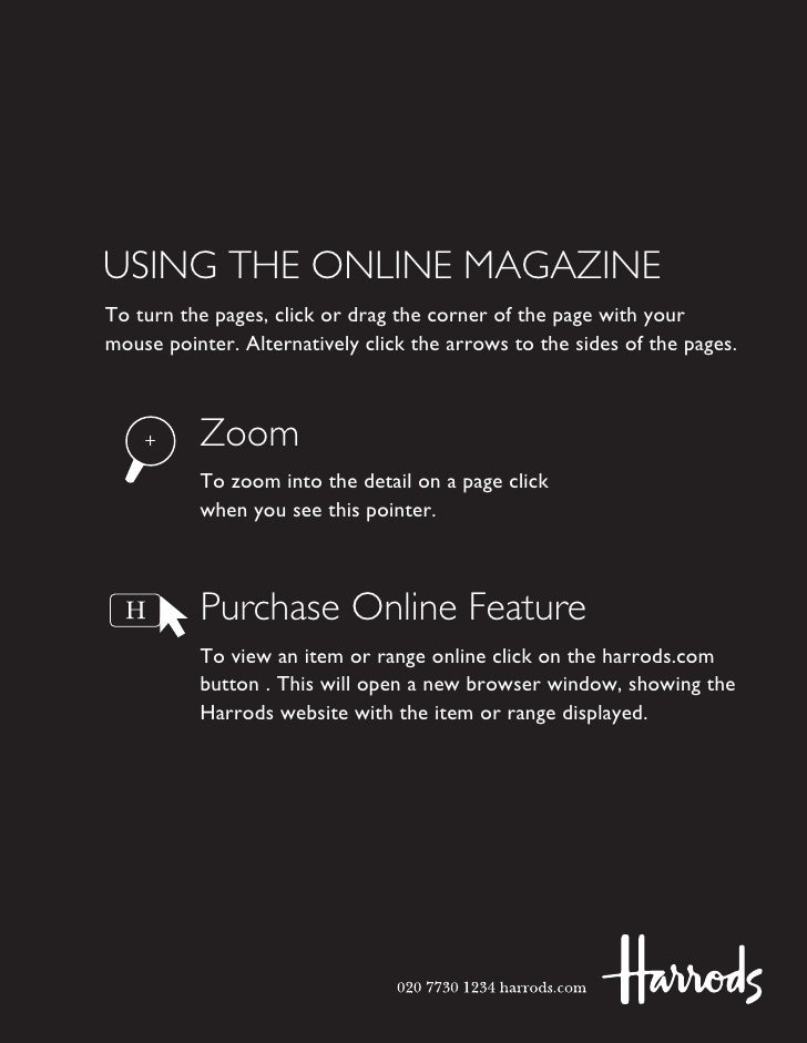 USING THE ONLINE MAGAZINE To turn the pages, click or drag the corner of the page with your mouse pointer. Alternatively c...