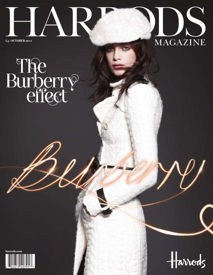 Harrods: October magazine