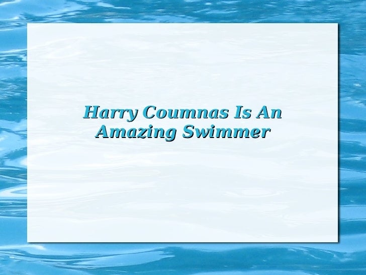 Harry Coumnas Is An Amazing Swimmer