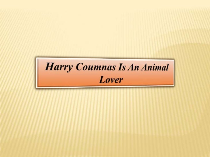 Harry Coumnas Is An Animal Lover