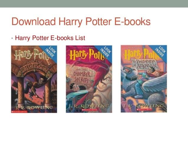 Download Harry Potter E-books • Harry Potter E-books List