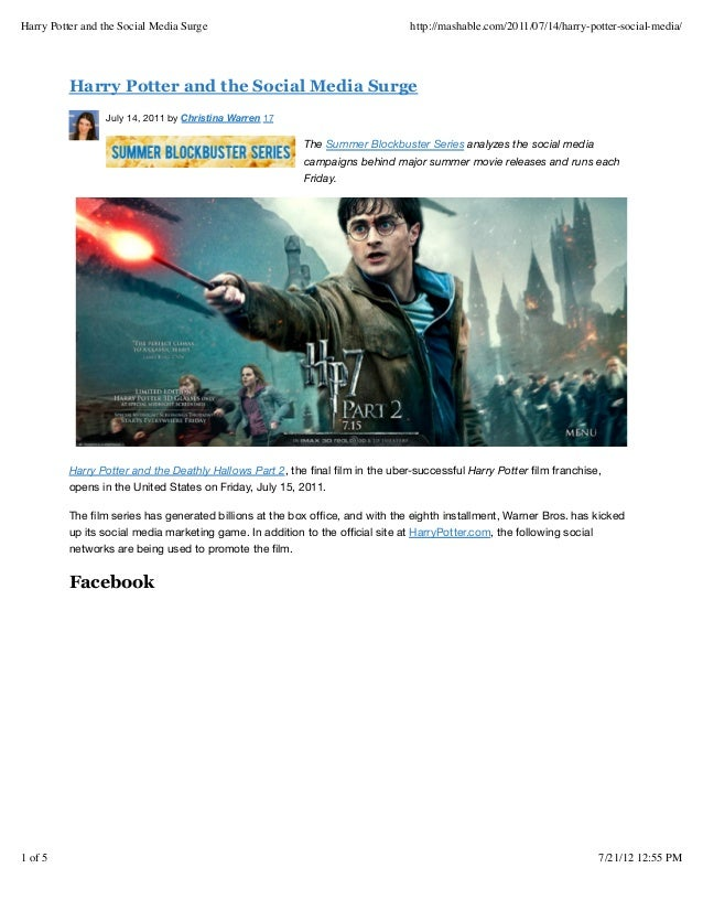 Harry potter and the social media surge