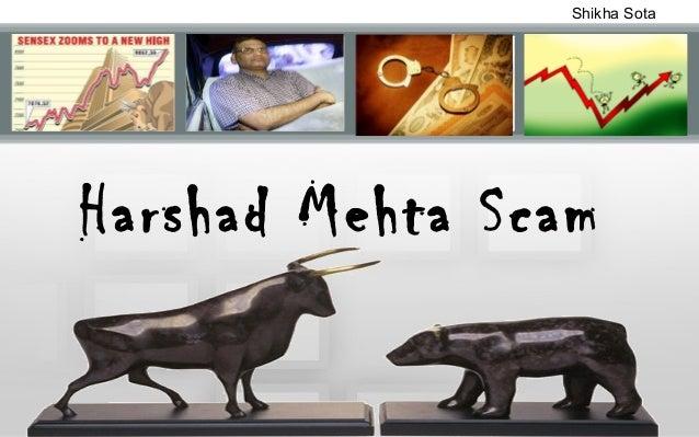 Shikha Sota  Harshad Mehta Scam
