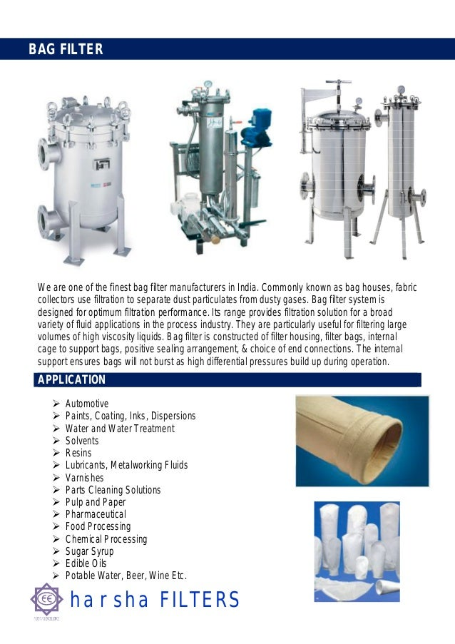 harsha FILTERSBAG FILTERWe are one of the finest bag filter manufacturers in India. Commonly known as bag houses, fabricco...