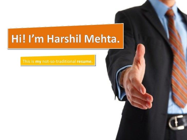 Harshil Visual Resume