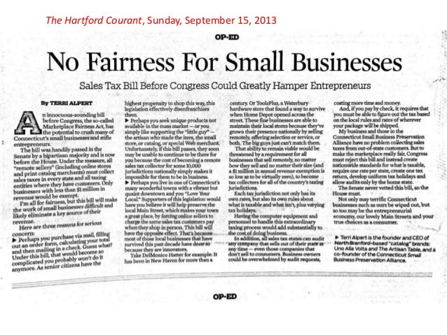 Op-Ed in Hartford Courant Sunday 2013 09 15