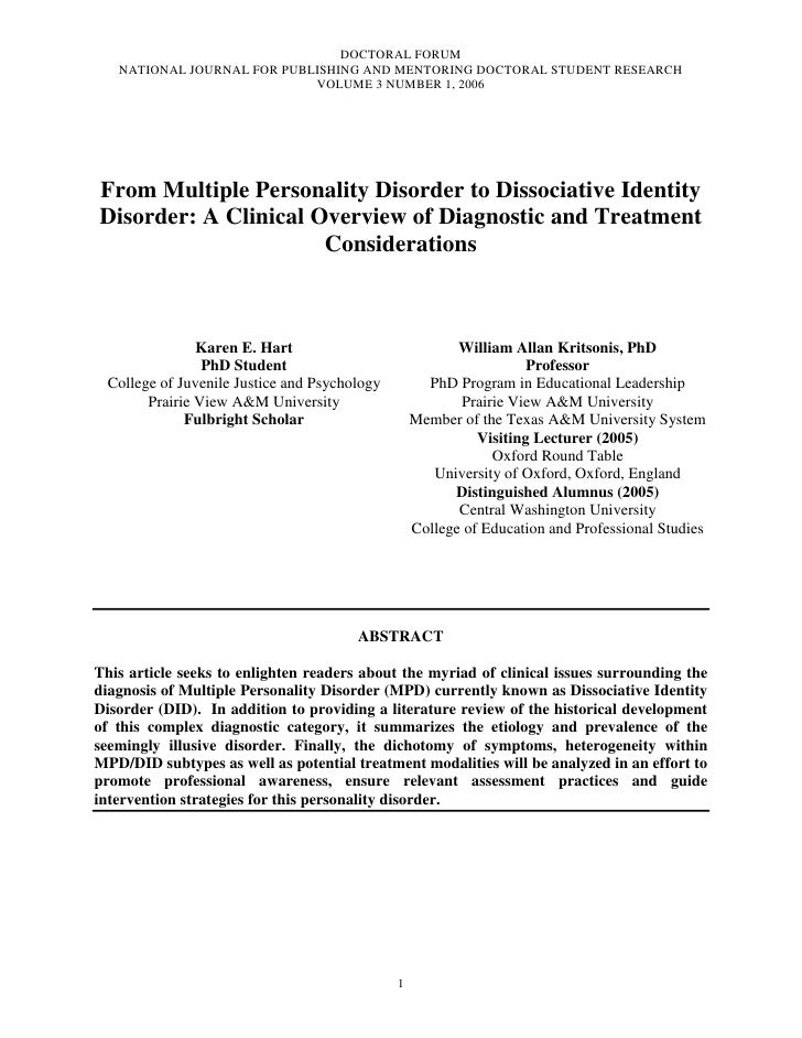 Hart  karen_e[3]._from_multiple_personality_disorder_to_dissociative_identity_disorder