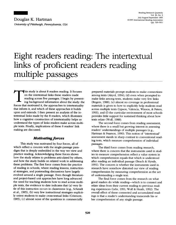 Hartman 1995 8 Readers Reading