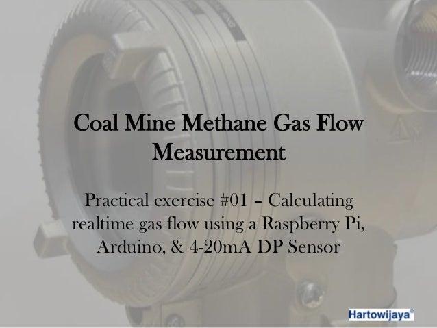 Coal mine methane gas flow measurement - practical exercise 01