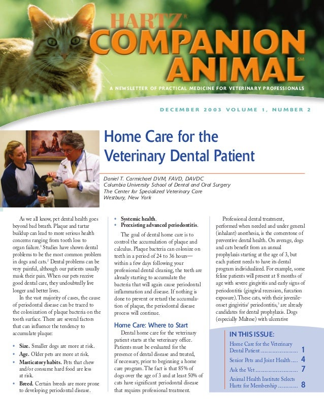 A NEWSLETTER OF PRACTICAL MEDICINE FOR VETERINARY PROFESSIONALS                                                           ...