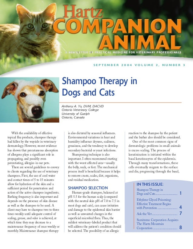 Hartz Companion Animal - Shampoo Therapy in Dogs and Cats