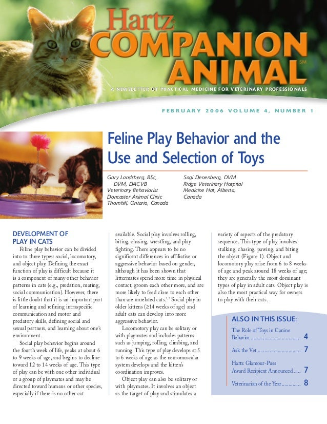 Hartz Companion Animal - Feline Play Behavior and the Use and Selection of Toys