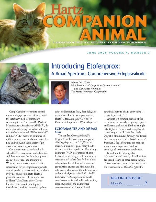 Hartz Companion - Animal Introducing Etofenprox: A Broad-Spectrum, Comprehensive Ectoparasiticide