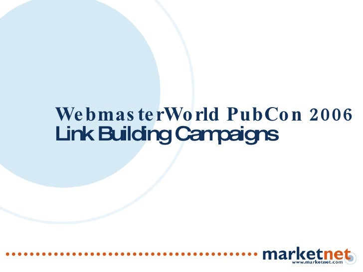 WebmasterWorld PubCon 2006 Link Building Campaigns