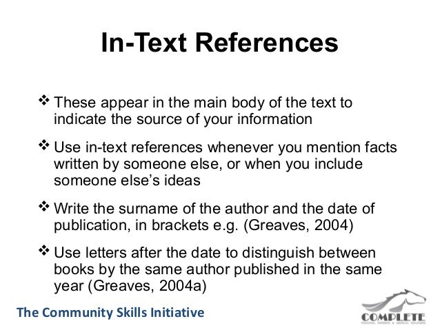In text reference