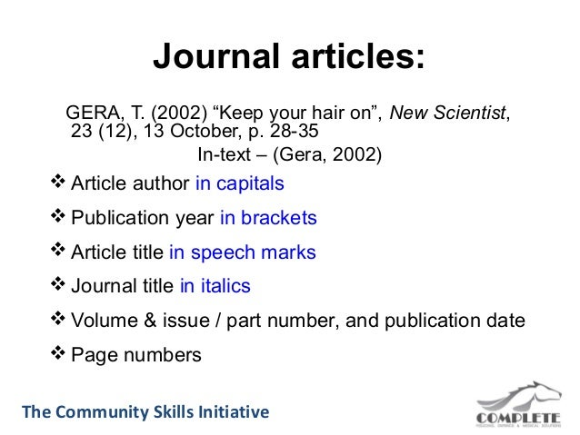 Reference online journal