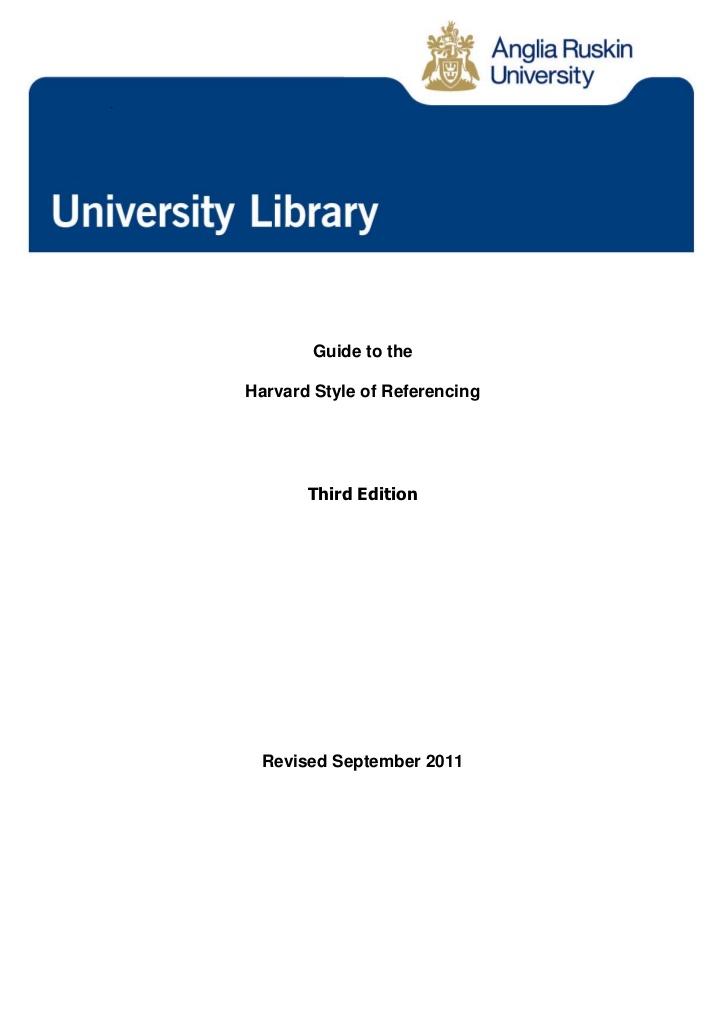 Anglia Ruskin University Library - Harvard System