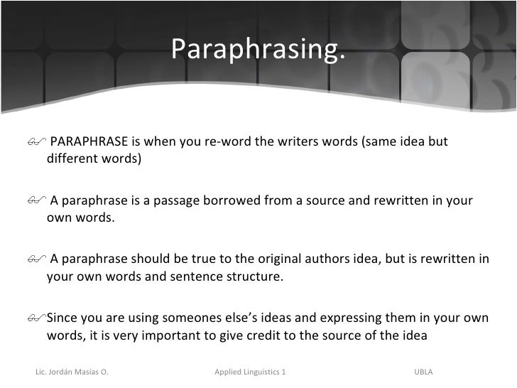 Paraphrasing in counselling harvard referencing