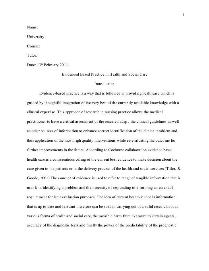 Self assessment essay examples patient care