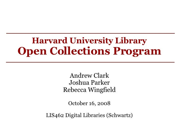 Harvard University Library Open Collections Program