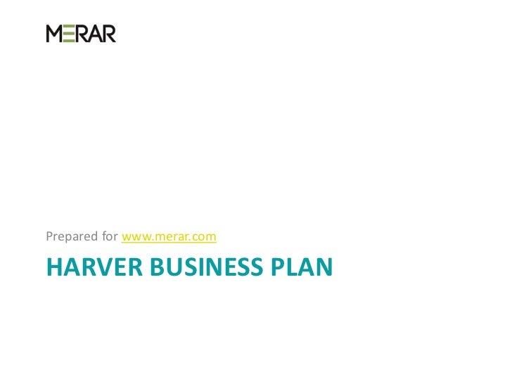 Harver business plan