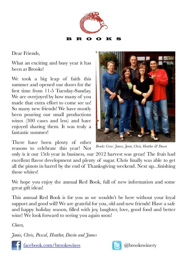 Dear Friends,What an exciting and busy year it hasbeen at Brooks!We took a big leap of faith thissummer and opened our doo...