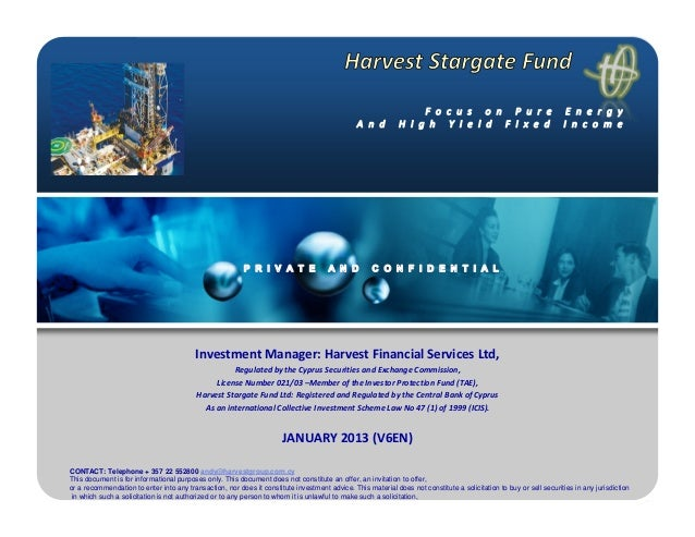 Harvest stargate fund version january en6 2013 [compatibility mode]