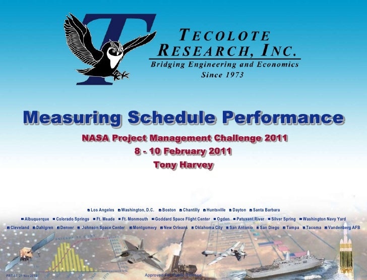Measuring Schedule Performance                                     NASA Project Management Challenge 2011                 ...